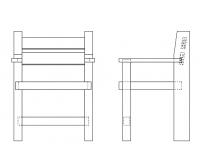 ミニチュア椅子(17-01)木取り