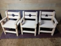 ミニチュア椅子3脚組み立て完成