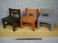 ミニチュア椅子(17-02)3脚が完成しました