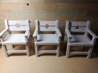 ミニチュア椅子(17-01)3脚が完成