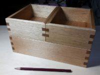 整理箱3個組クルミの塗装をして完成しました